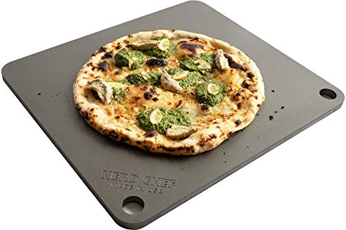 NerdChef Steel Stone - High-Performance Baking Surface for Pizza (14.5'x16' x1/4') - (.25' Thick - Standard)