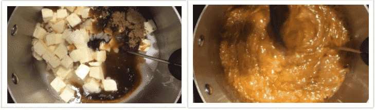 Making butterscotch pudding from scratch.