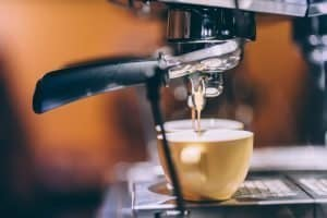 espresso extraction from an espresso machine