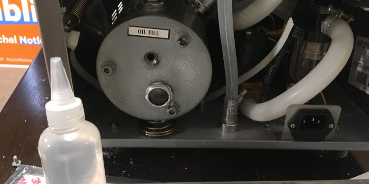 Changing oil on the VacMaster VP215 vacuum chamber
