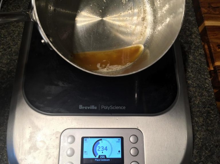 Making brown butter on the Breville PolyScience Control Freak.