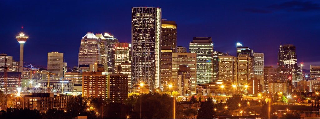 Calgary Alberta at night