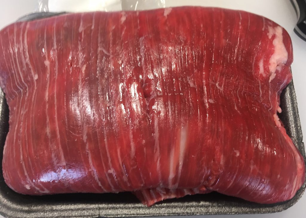 Muscle fiber direction of flank steak
