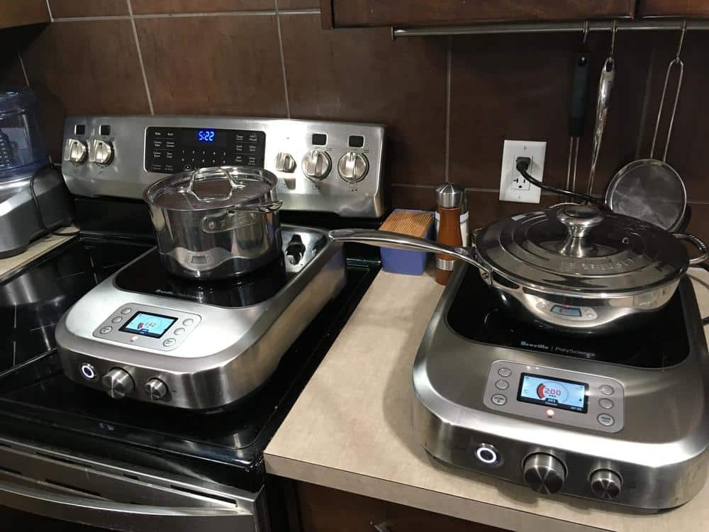 Two Breville PolyScience Control Freaks in use.