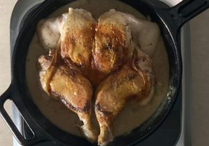 lemon sage smothered chicken recipe inspired by craig claiborne