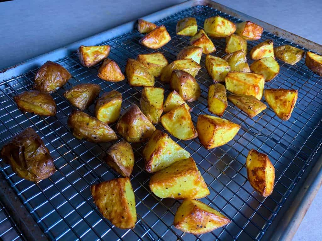 home fries cooked in the anova precision oven.