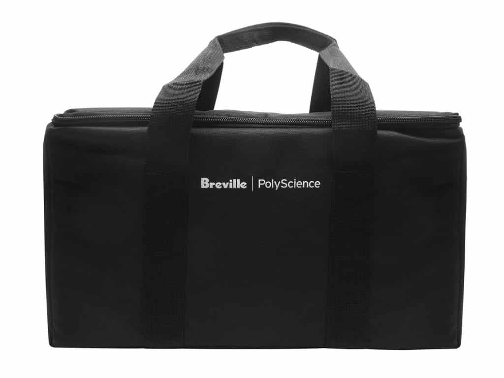 A carrying bag with handle for the Polyscience Breville HydroPro
