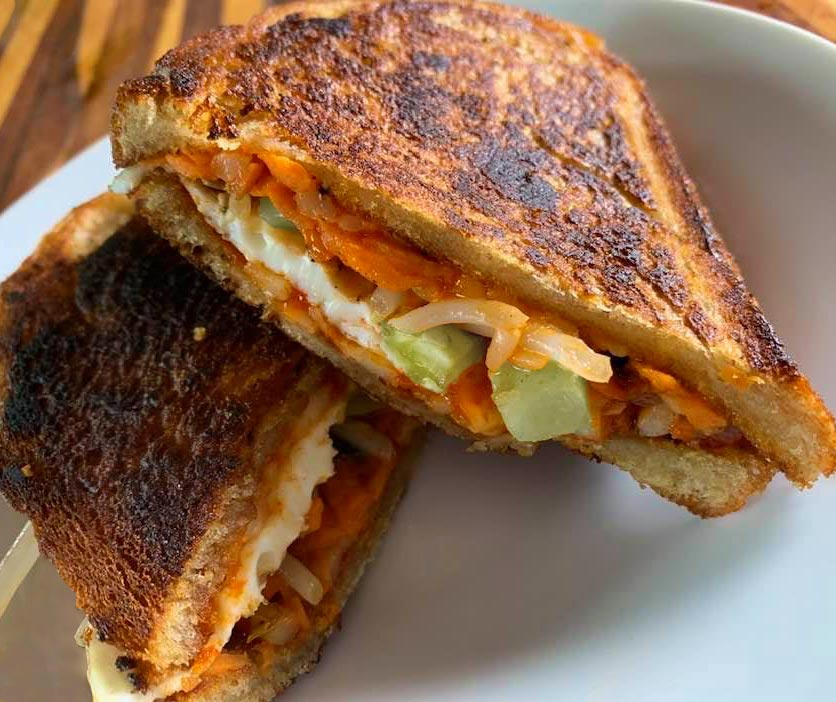 Bibimbap-Inspired Grilled Cheese Sandwich