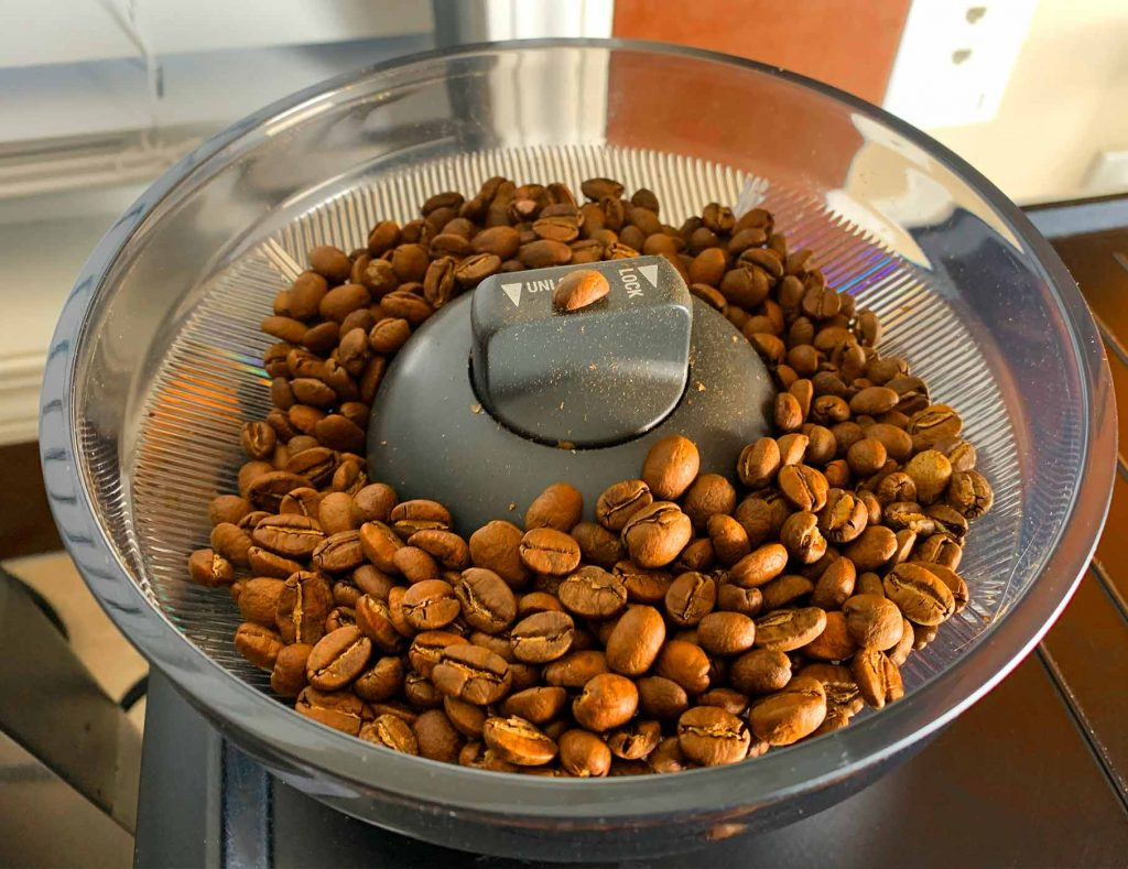Integrated grinder on the Breville Oracle Touch