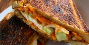 bibimbap grilled cheese sandwich