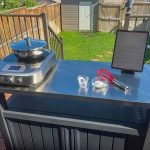 Keter XL Unity Outdoor Prep Kitchen with Induction Burner