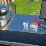 Keter XL Unity Outdoor Prep Kitchen with Induction Burner.