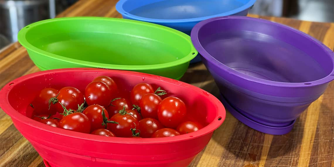 Best Mini Collander for cherry tomatoes, blueberries, and raspberries