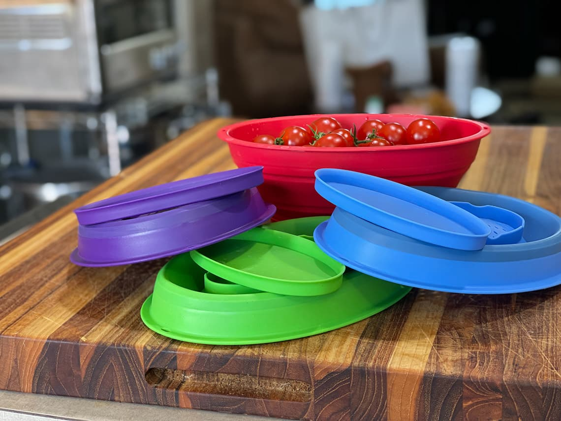 best mini colander with water collecting trays