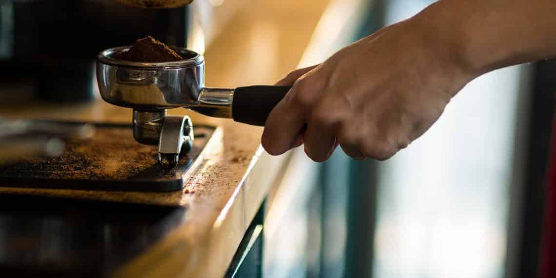 Prevent coffee grounds from spilling all over your counter when using a Breville Espresso Machine.